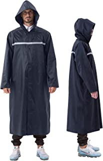 ioutdoor Raincoat Women, Rain Poncho Waterproof Adult, Long Reusable Lightweight, with Drawstring Hoods Sleeves Reflective...