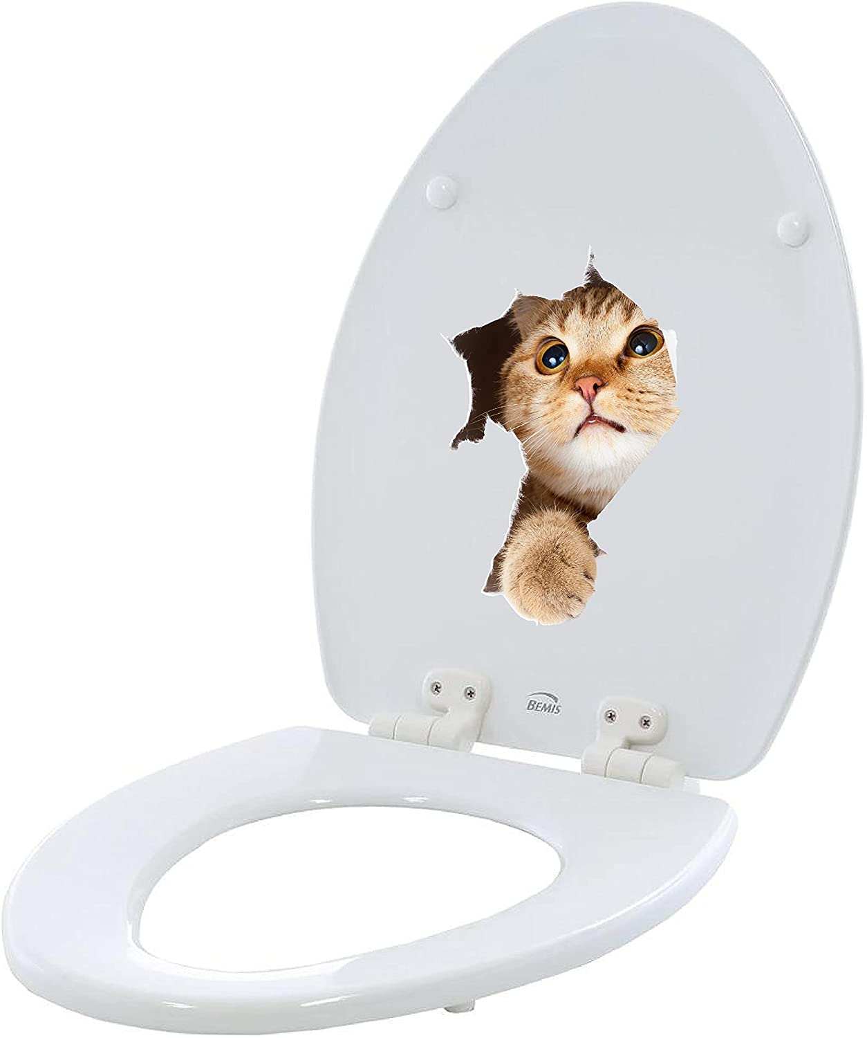 Bathroom Miami Free Shipping New Mall Toilet seat Sticker Decal - Breaking Cat Break Out Fu