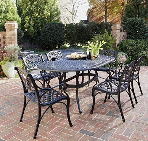 Big Sale Home Styles 5554-338 Biscayne 7-Piece Outdoor Dining Set, Black Finish