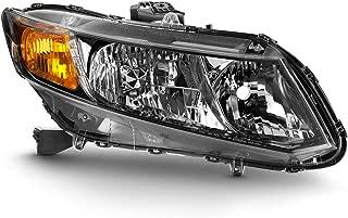 ACANII - For 2013-2015 Honda Civic Sedan 13 Coupe [Factory Style] Headlight Headlamp Replacement Right Passenger Side