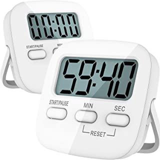 Kitchen Timer, 2 Pack Digital Kitchen Timers [ 2020 Version ] Magnetic Countdown Timer..