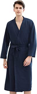 Elonglin Dressing Gown Kimono Robe for Men/Women Sleepwear Unisex Lightweight Bathrobe for Spa Hotel Soft Waffle Robe Wrap...