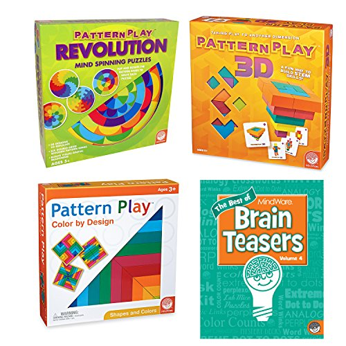 MindWare Pattern Play Set of 3: All Pattern Plays with Free Brainteaser Book