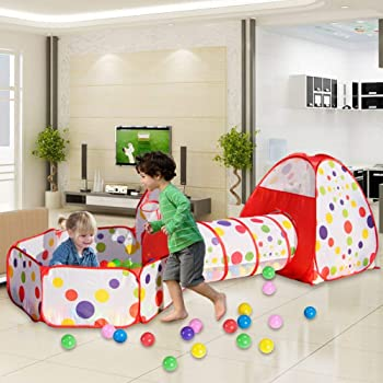 Nice2you Kids Tent Blue Pop up Play Tent Indoor and Outdoor Tunnel Playhouse Deal for all Girls and Boys