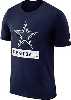 Men's Dallas Cowboys Navy Logo Performance Dri-Fit T-Shirt