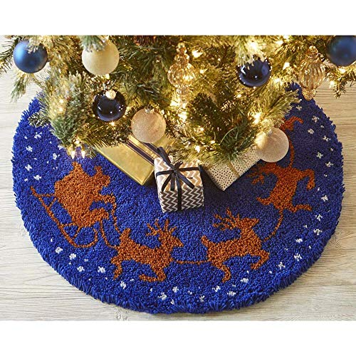 Herrschners to All A Good Night Tree Skirt Latch Hook Kit
