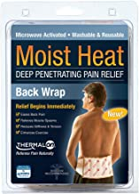 """Thermalon Microwave Activated Moist Heat Therapy Wrap with Ties for Back, Hip, Shoulder, 7"""" x 12"""""""