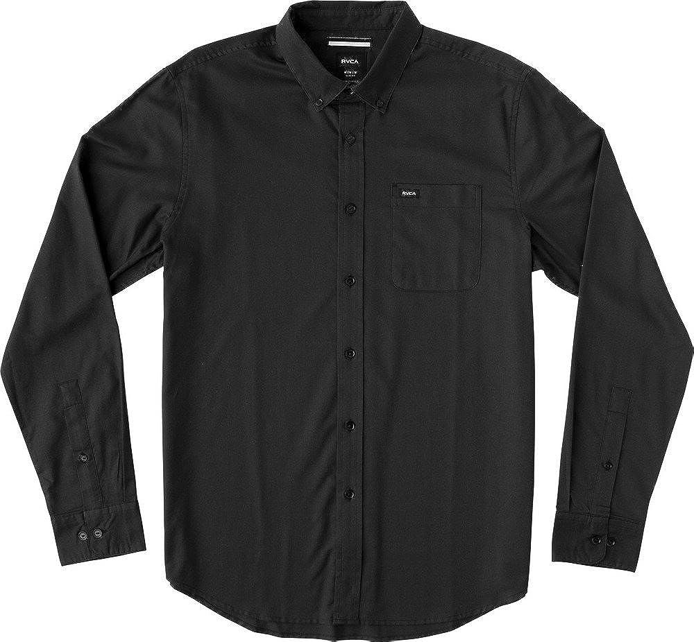 RVCA Men's That'll Do Oxford Long Sleeve Dress Shirt
