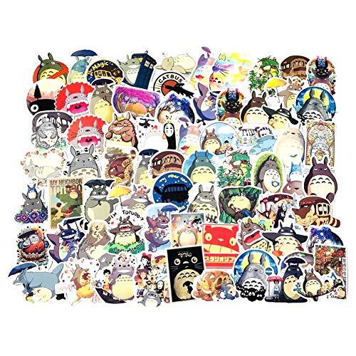 Haushele OFD Anime Aufkleber Koffer Gitarre Sticker Telefon Aufkleber Skateboard Aufkleber Naruto Mein Held Akademie Sailor Moon Nette Katze Doodle Aufkleber (70 Stück Totoro)