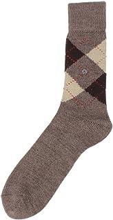 Burlington Mens Preston Argyle Socks - Brown/Sand