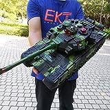 Radio Tanque de Batalla Principal Modelo Controlado Toy RC Tanque Panzer, Tipo Oruga Todoterreno Remoto Controlar Coche Rotación de 360 Grados con Sonido Y Choque Niños