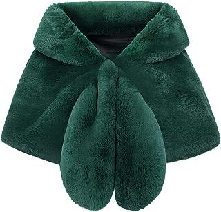 Faux Fur Shawl Wrap Bridal Fur Stole Shrug Winter Wedding Cover Up