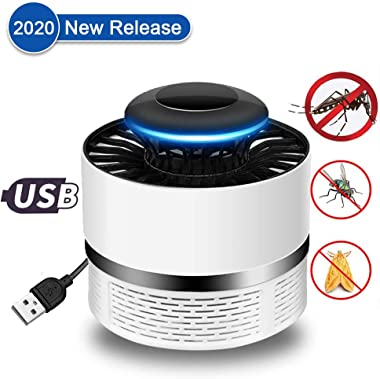 Onetour Electric Mosquito Killer, USB UV Lamp Bug Zappers Strong Fan Suction Portable Mosquito Lamp- Safe & No Radiation- Insect Killer Flies Trap with Trap Lamp for Indoor Home,Outdoor