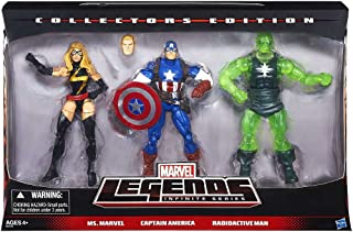 Marvel Legends Infinite Collectors Edition Ms. Marvel. Captain America & Radioactive Man by HASBO