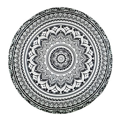 Zonfer Rund Badetuch Decke Boho Runde Tapestry Cotton Strand Roundie Kreis Picknick Teppich Yoga-Matten