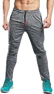 Realdo Mens Long Casual Loose Solid Sports Pants Gym Slim Fit Trousers Running Jogger Sweatpants