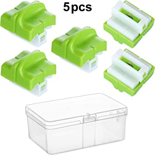 5 Pieces Paper Cutter Replacement Blade Trimmer Cutting Replacement Blade Automatic Security Safeguard Blades with Plastic Transparent Box for A4 Paper Trimmer (Green)