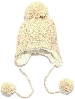 f6479707d3d61 DOSOMI Bomber Hat Boy Girl Add Velvet Knit Earmuffs Beanies Hat Thick Cable  Earflap Cap Winter