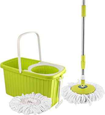 Kleeno by Cello Hi Clean Spin Mop, Green