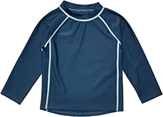 Leveret Long Sleeve Baby Boys Girls Rash Guard Sun Protected UPF + 50 Kids & Toddler Swim Shirt (12 Months-5 Toddler)