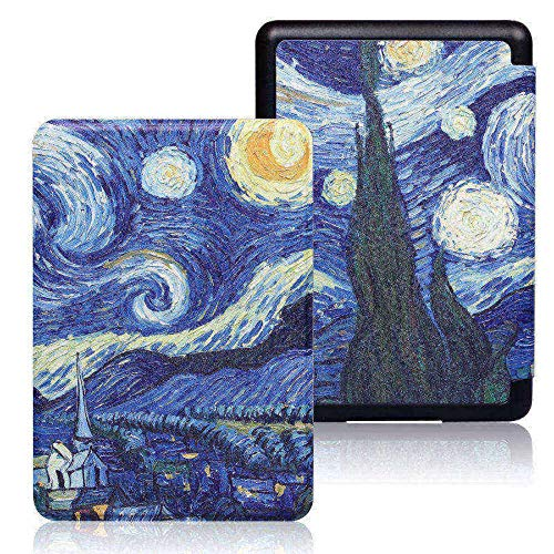 ZHAOXIANGXIANG Kindle Case,Caja para Kindle 10Th J9G29R 2019 Release Protective Smart Cover Print PU Leather Case con Auto Sleep O Despertar,Starry Sky