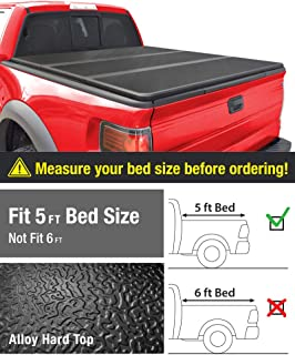 MaxMate Alloy Tri-Fold Hard Top Truck Bed Tonneau Cover for 2005-2019 Nissan Frontier; 2009-2014 Suzuki Equator   Fleetside 5' Bed   for Models with or Without The Utili-Track System