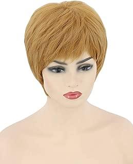 Topcosplay Pixie Cut Wig Short Gold Orange Layered Cersei Wig Cosplay Halloween Character Costume Wig