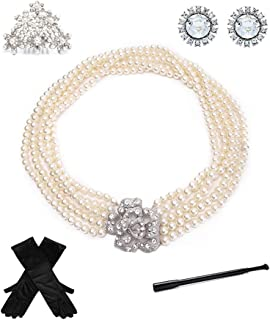 Utopiat Holly 5 Piece Jewelry Accessories Costume Set Inspired by Audrey Hepburn Style