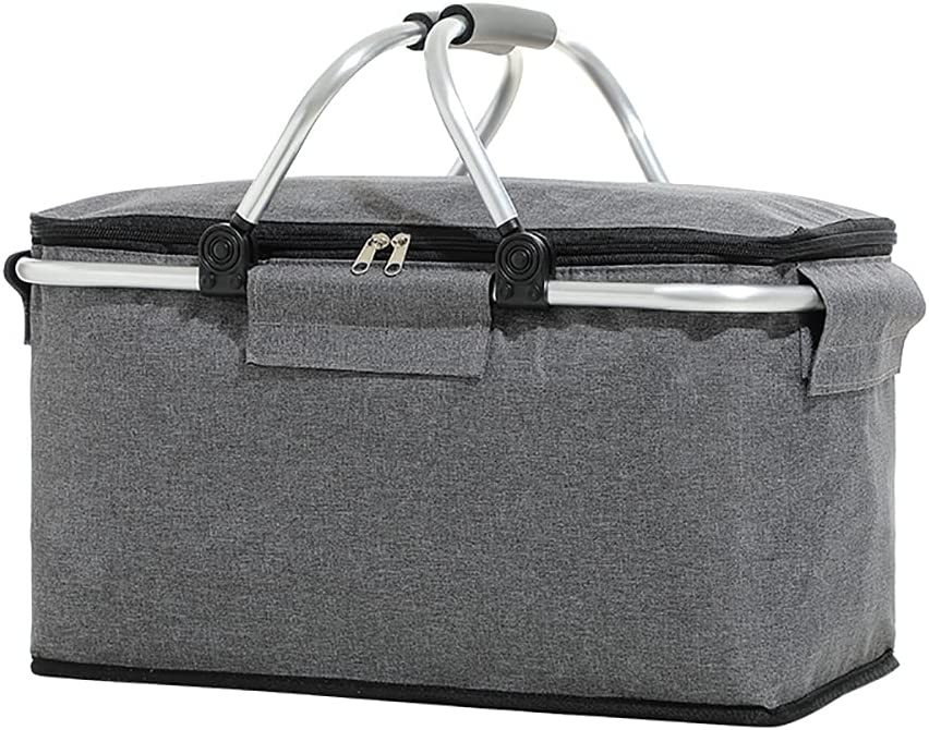 Collapsible Picnic Basket Cooler Austin Mall Bag Clearance SALE Limited time Handles Aluminium 2 with F