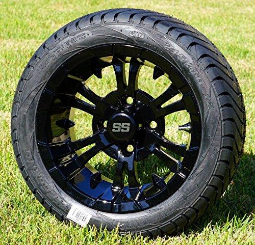 """12"""" Vampire Gloss Black Wheels & Tires"""