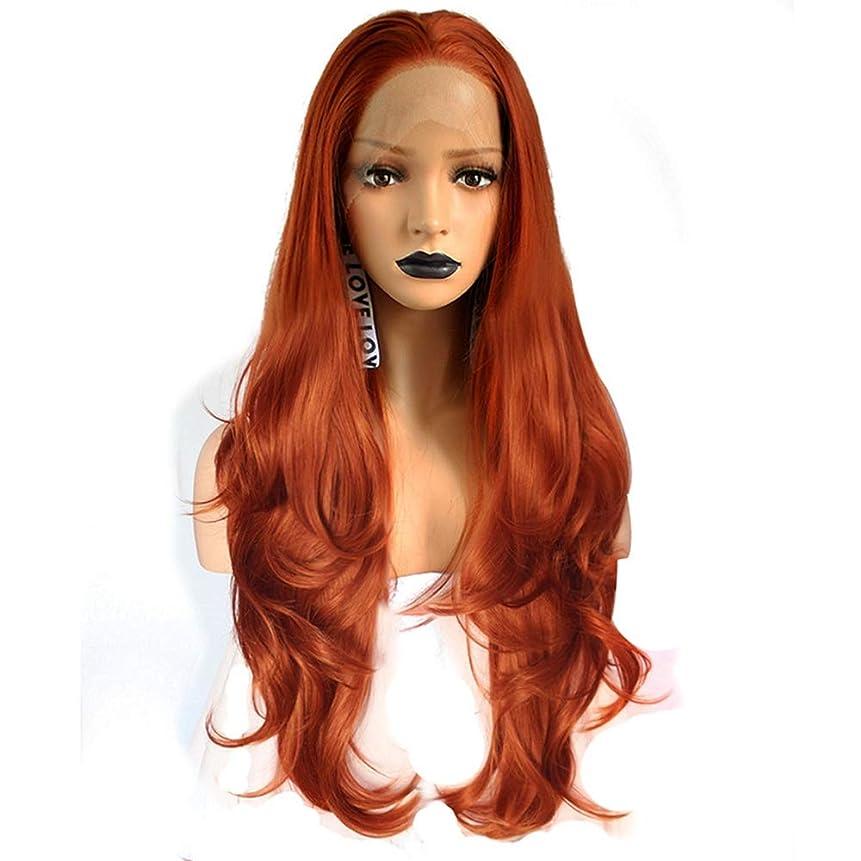 解説観察加入ZXF 高密度ホリデーヘア女性ヨーロッパとアメリカの化学繊維かつらヘッドギア銅大波巻き毛フロントバッドシルクスクリーンリアルなナチュラル 美しい (Size : 20 inches)