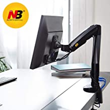 NB North Bayou Monitor Desk Mount Full Motion Swivel Monitor Arm with Gas Spring for 22''-35''Monitors from 6.6 to 19.8lbs Black Monitor Stand F100A-B