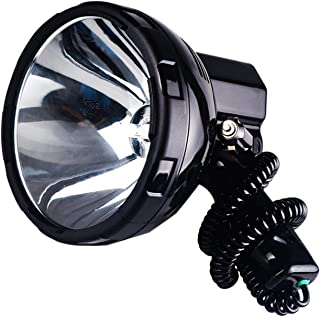Image of Mjwlgs Searchlight Bright Protable Spotlight 220W Search Light Hunting 12V searchlight 35w (Emitting Color : 35W)