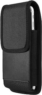 5.2 Inch Nylon Magnetic Hip Holster w/Belt Clip for Apple iPhone Xs/iPhone X/LG Aristo 3 / Tribute Empire / G6 / BlackBerr...