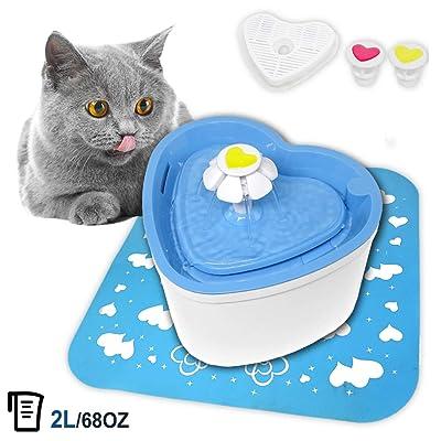PETUOL Cat Pet Fountain, Love Water Dispenser 2...