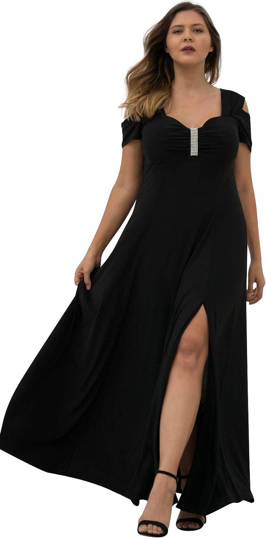 R&M Richards Long Plus Size Formal Dress