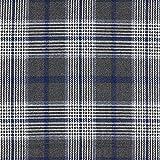 Fabulous Fabrics Anzugstoff Glencheck – anthrazit/Navy