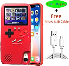 Cute iPhone 8 Plus Case for Women Red, VOLMON Shockproof iPhone 7 Plus Case Cover with 3D Video Games, Color Display Retro Tetris Game Case, Pretty Girl Case Funny for iPhone 6P/6SP/7P/8P, 5.5 Inch
