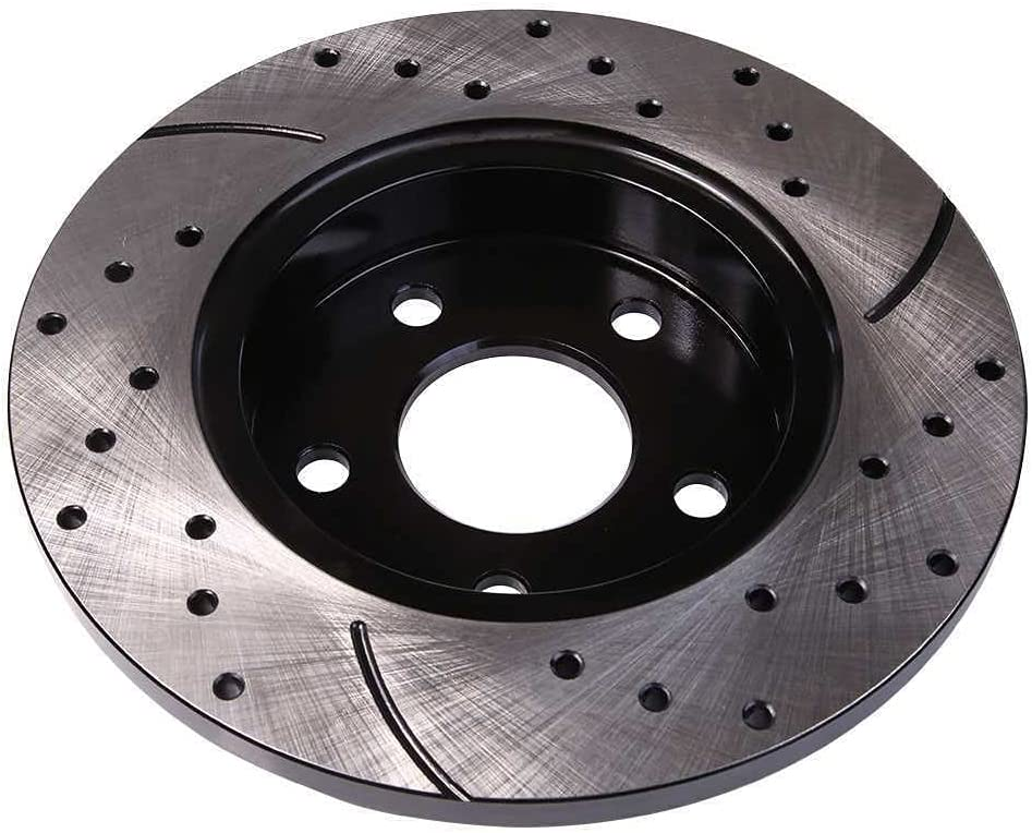 Rear Drilled Slotted Disc Brake Rotors Ch Pair Ranking TOP19 San Antonio Mall with 2 Compatible