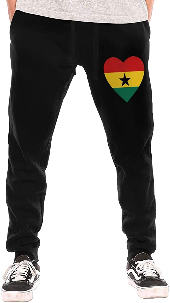Ghana Flag Sales results No. 1 in Heart Shape High quality new Men's Casual Pant Drawstrin Sweatpants