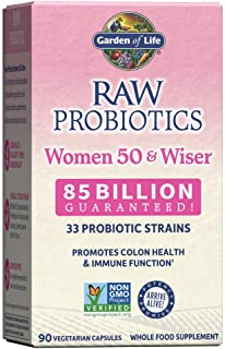 Garden of Life Raw Probiotics Women 50 & Wiser - Acidophilus Live Cultures, Probiotic-Created Vitamins, Minerals, Enzymes ...