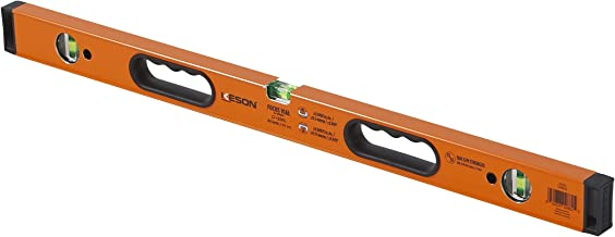 Keson LKB32 Aluminum Box Beam Level with 3 20% Magnified Vials, 32-Inch