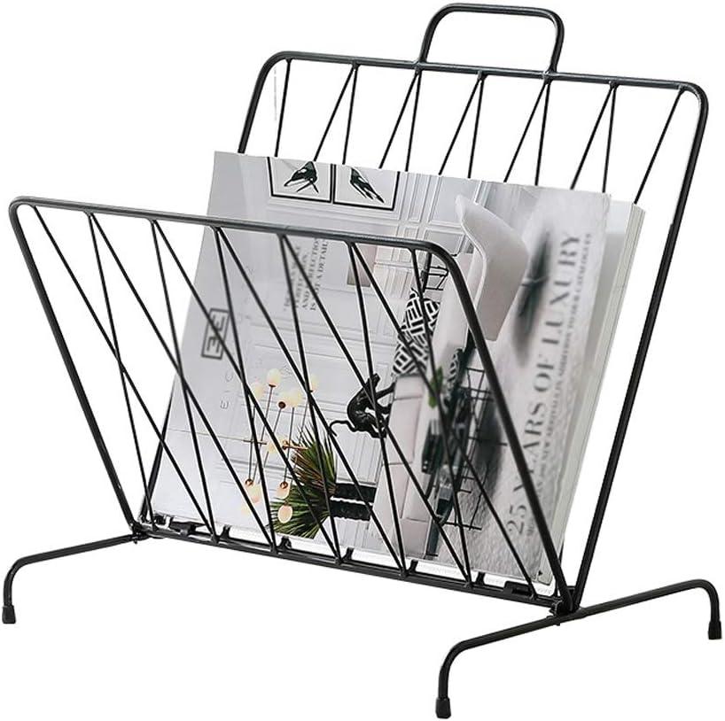Magazine Rack Finally popular brand Bookshelf Hollow Stand Display Storage Metal Popularity