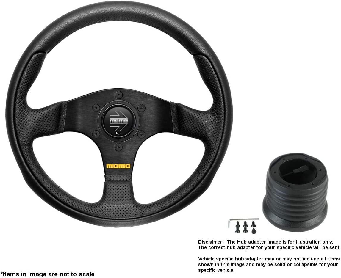 MOMO Team 280mm 11.02 Inches Steering Wheel Leather Directly managed store Weekly update w Brushed