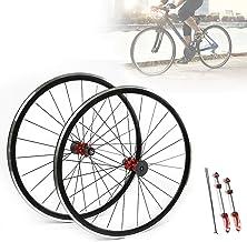 Road Bike Ultralight Sealed Bearing 700C Wheels Wheelset,2 Pcs Ultra-Light Aluminum Alloy Bicycle 700C Road Bike Wheel Fro...
