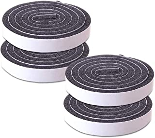 Adhesive Weather Stripping Foam Tape 12mm(W) x 6mm(T) Window Door Draught Excluder SoundProof Weather Strip Tape Seals for...
