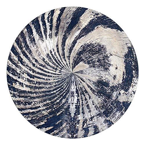 Monbedos tapijt woonkamer ronde antislip deken mooie badmat geschikt voor thuis, badkamer, kantoor, maat: 60 cm diameter