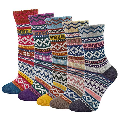 (40% OFF Coupon) 5 Pairs Women's Wool Socks $7.79