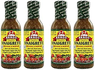Bragg Dressing & Marinade Vinaigrette Organic 12 oz (Pack of 4)