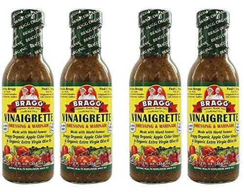 Bragg Dressing & Marinade Vinaigrette Organic, 12 Fl Oz (Pack of 4)